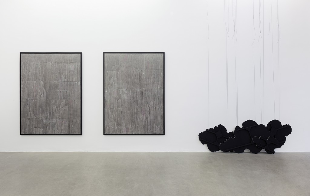 Latifa Echakhch, There's tears, 2015 - installation view (courtesy Kaufmann Repetto)