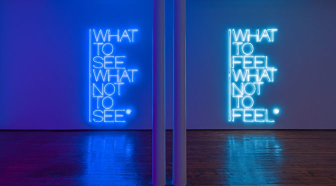 Maurizio Nannucci – What to see what not to see